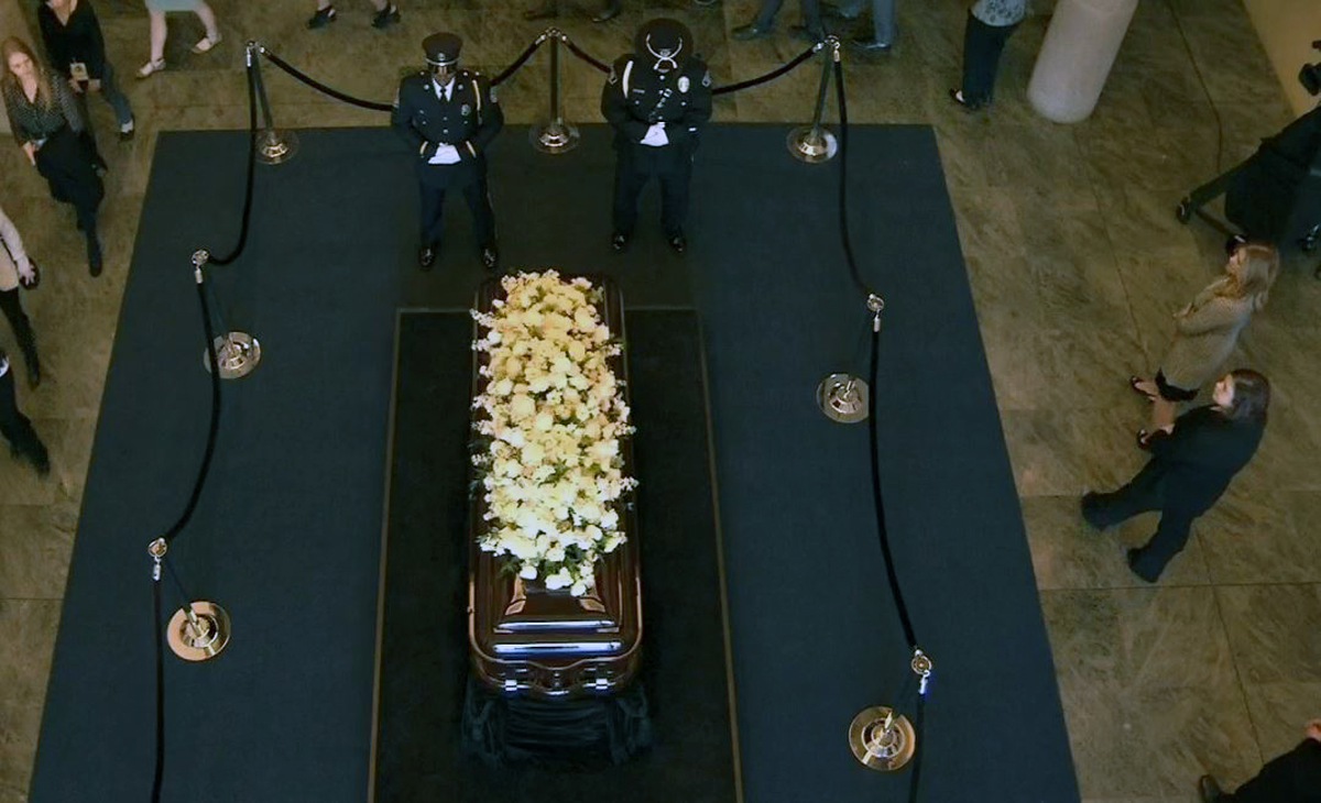 A public viewing for former First Lady Nancy Reagan began Wednesday March 9, 2016 at the Reagan Library and Museum in Simi Valley.