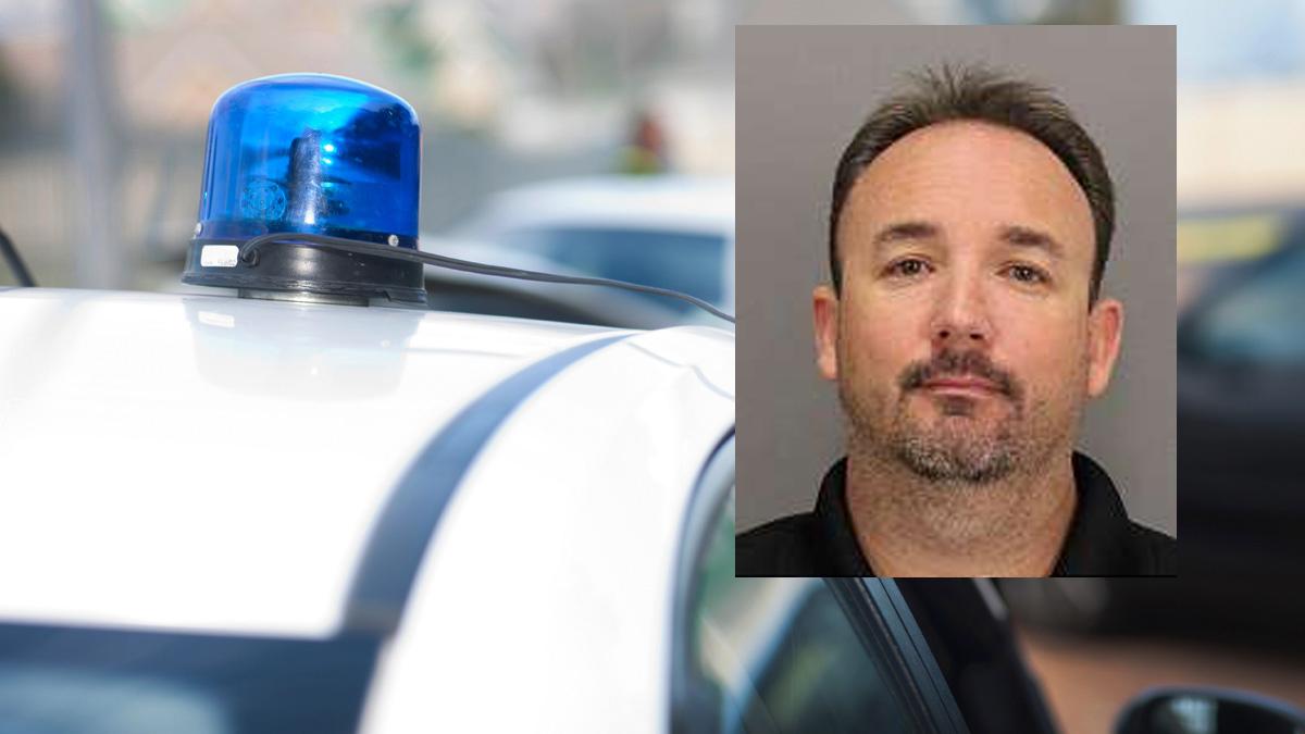 Mug shot of San Jose police officer Geoffrey Graves.