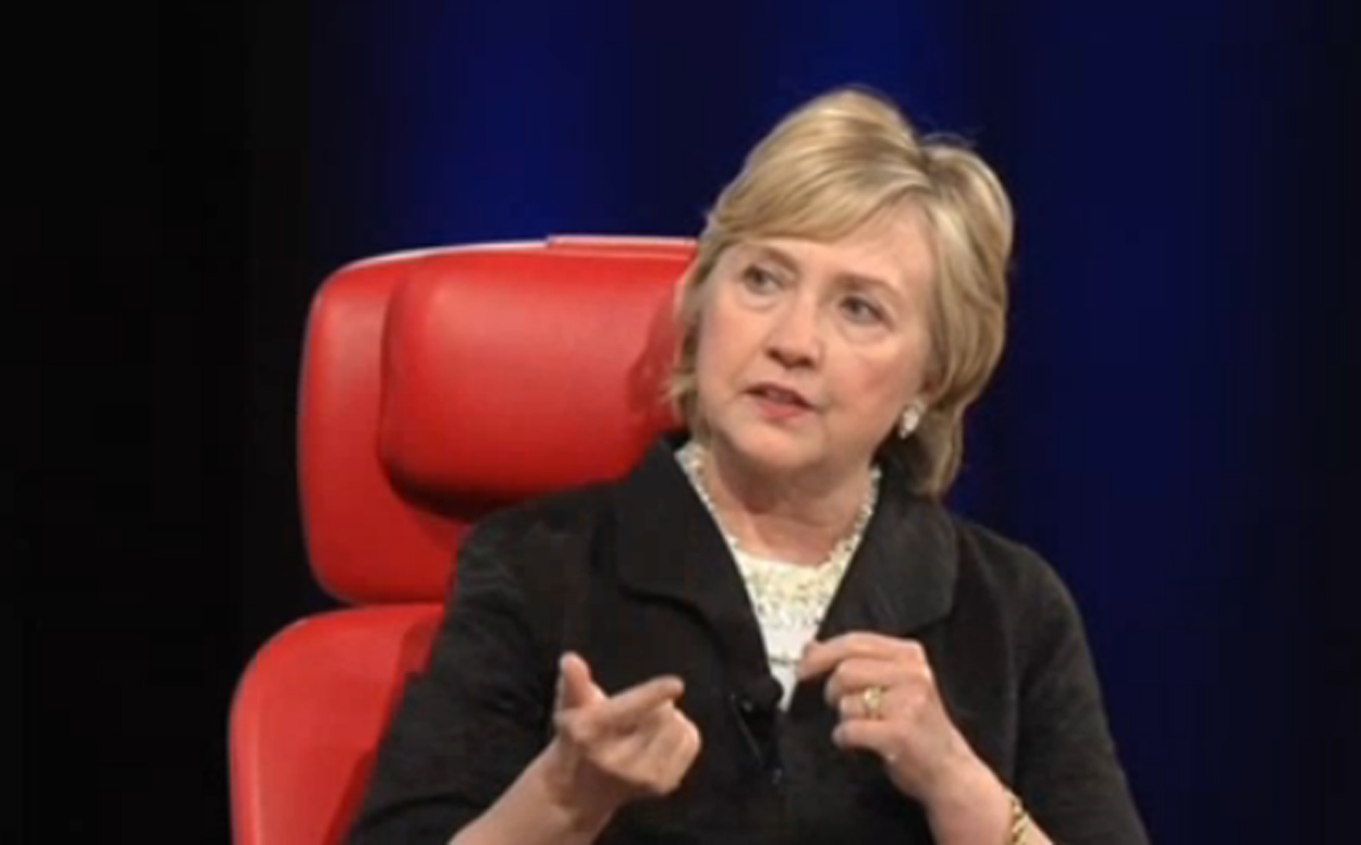 Former Secretary of State and Democratic presidential candidate Hillary Clinton speaks Wednesday May 31, 2017 at the Code Conference in Rancho Palos Verdes.