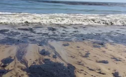 An oil spill was reported off the Santa Barbara coastline on May 19, 2015.