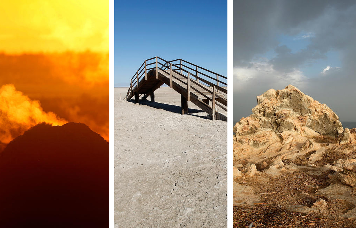 Some of the sights you'll see at California's evaporating Salton Sea in the extreme southwest part of the state.
