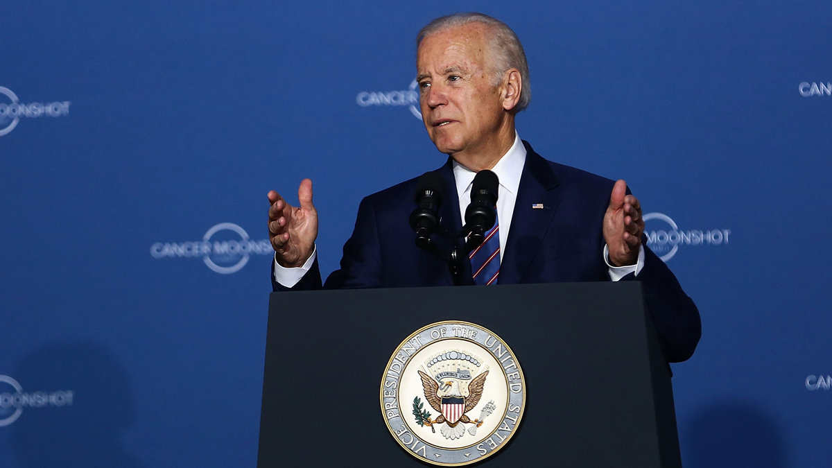 In this file photo, Vice President Joe Biden speaks at the Cancer Moonshot Summit at Howard University on June 29, 2016, in Washington, D.C.
