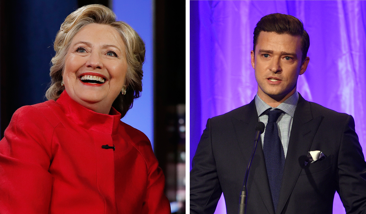 Hillary Clinton is scheduled to hold a $33,400 per person lunch fundraiser Tuesday Aug. 23, 2016 at the Hollywood Hills home of entertainer Justin Timberlake and his actress wife Jessica Biel.