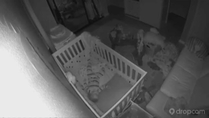 Video taken from a baby monitor shows how strong the Napa quake was felt in San Francisco.