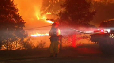 Firefighters have contained 20 percent of the Morgan Fire near Mt. Diablo.