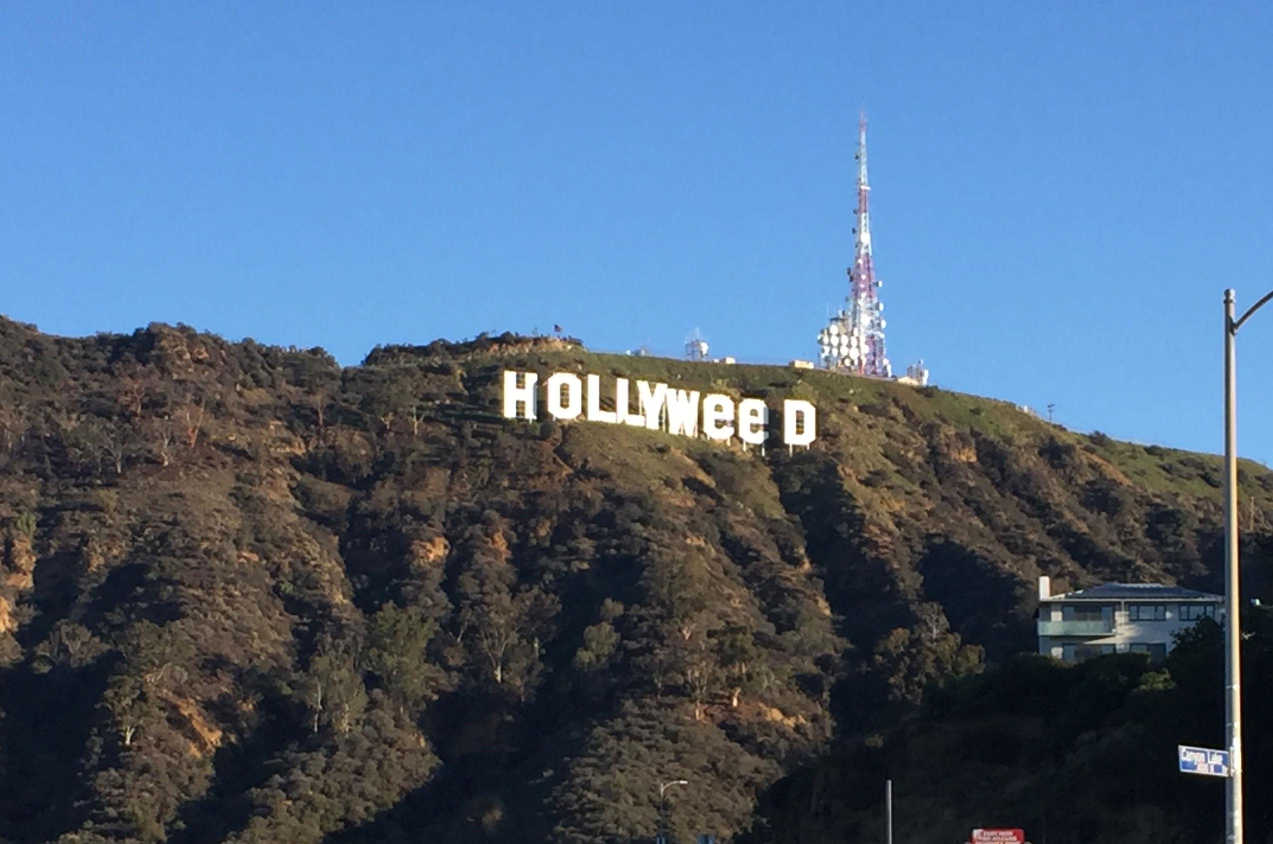 Angelenos woke up to surprise on the Hollywood Hills on Sunday, Jan. 1, 2017.