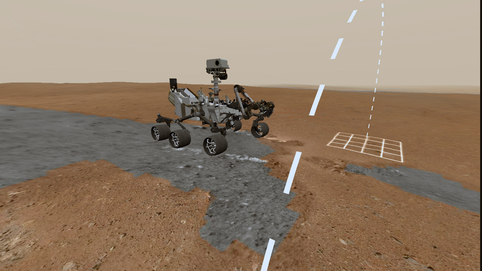 Using imagery from NASA's Curiosity rover, users can explore Mars.