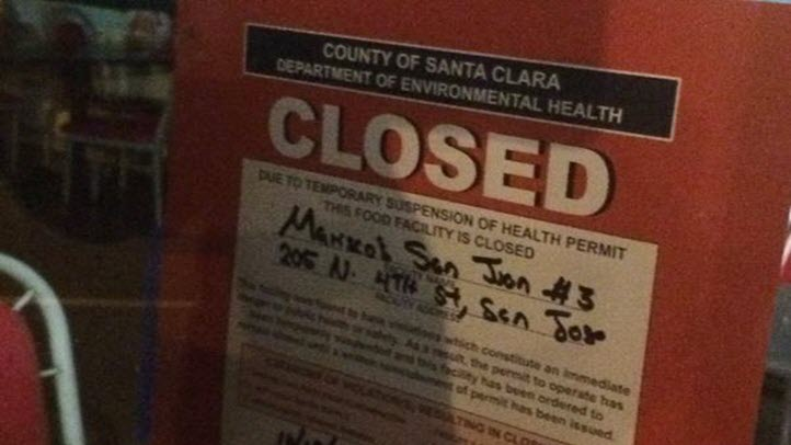 The Mariscos San Juan restaurant in downtown San Jose is closed after being linked to cases of Shigella. (Oct. 19, 2015)