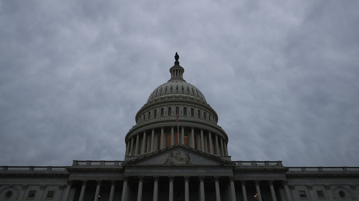 This Jan. 3, 2019, file photo shows the U.S. Capitol dome under a cloudy sky in Washington, D.C.
