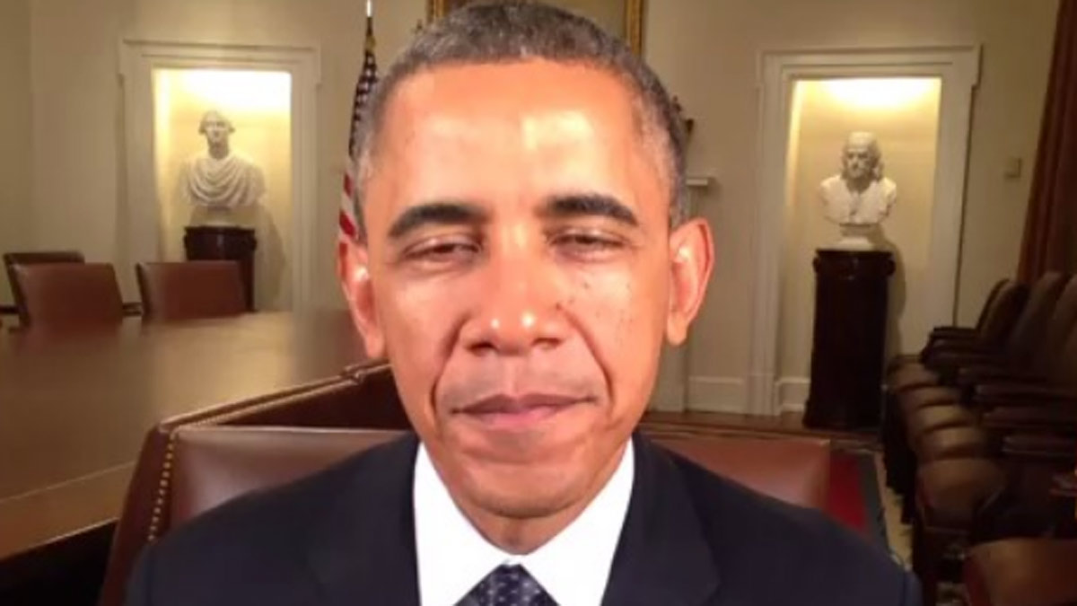 President Barack Obama recorded a Vine video to congratulate