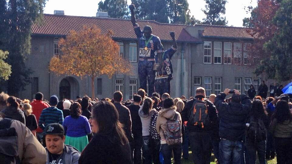 A rally was held on the San Jose State campus Thursday, Nov. 21, 2013.