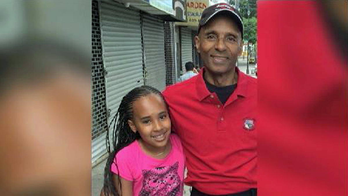 Nyanna Aquil, 10, and her grandfather, Louis Perez, died in the crash.