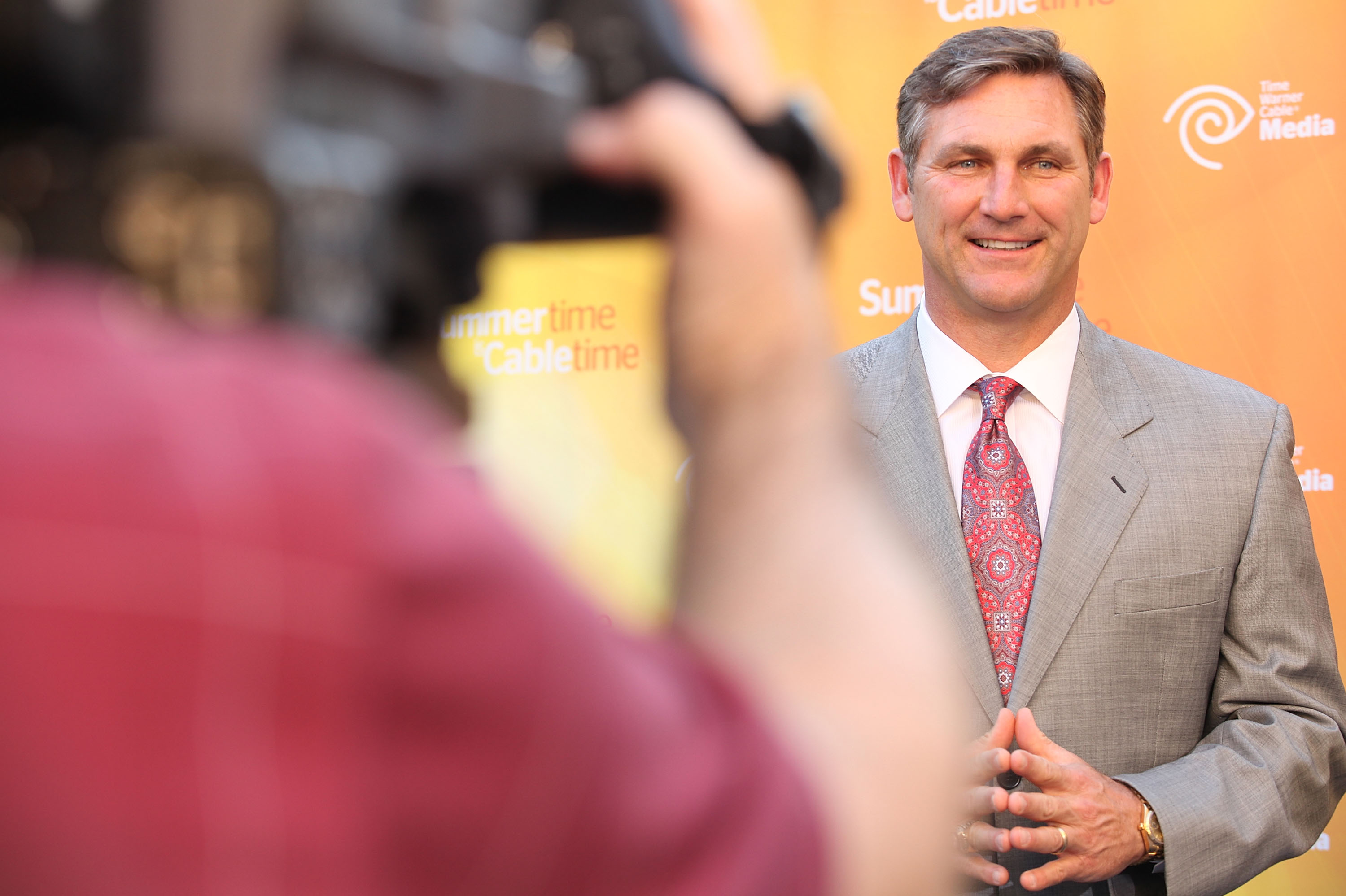 College football analyst Craig James attends the Time Warner Cable Media Upfront Event
