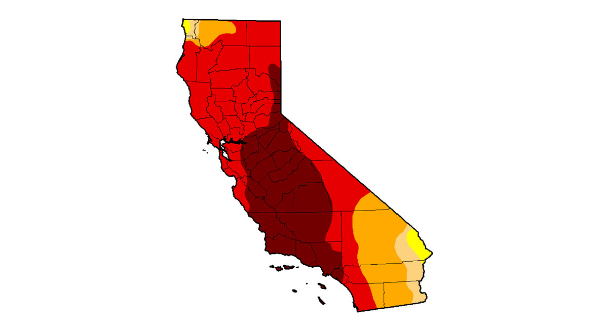 A U.S. Drought Monitor map released Dec. 18, 2014 show drought conditions across California.