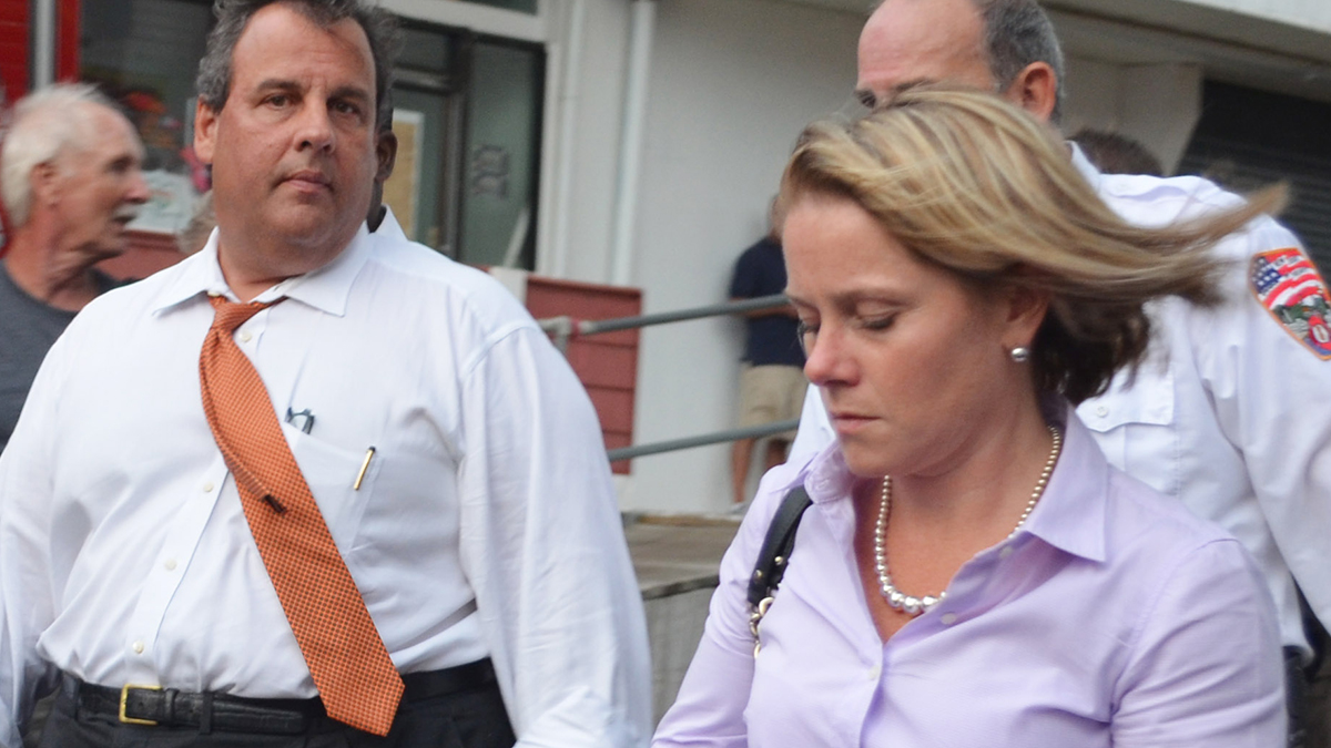 Gov. Chris Christie and then-Deputy Chief of Staff Bridget Anne Kelly in Seaside Heights on Sept. 12.