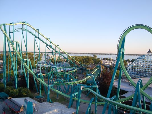 The man had entered into a restricted area at the Sandusky, Ohio amusement park before he was hit by the Raptor roller coaster, according to park officials.