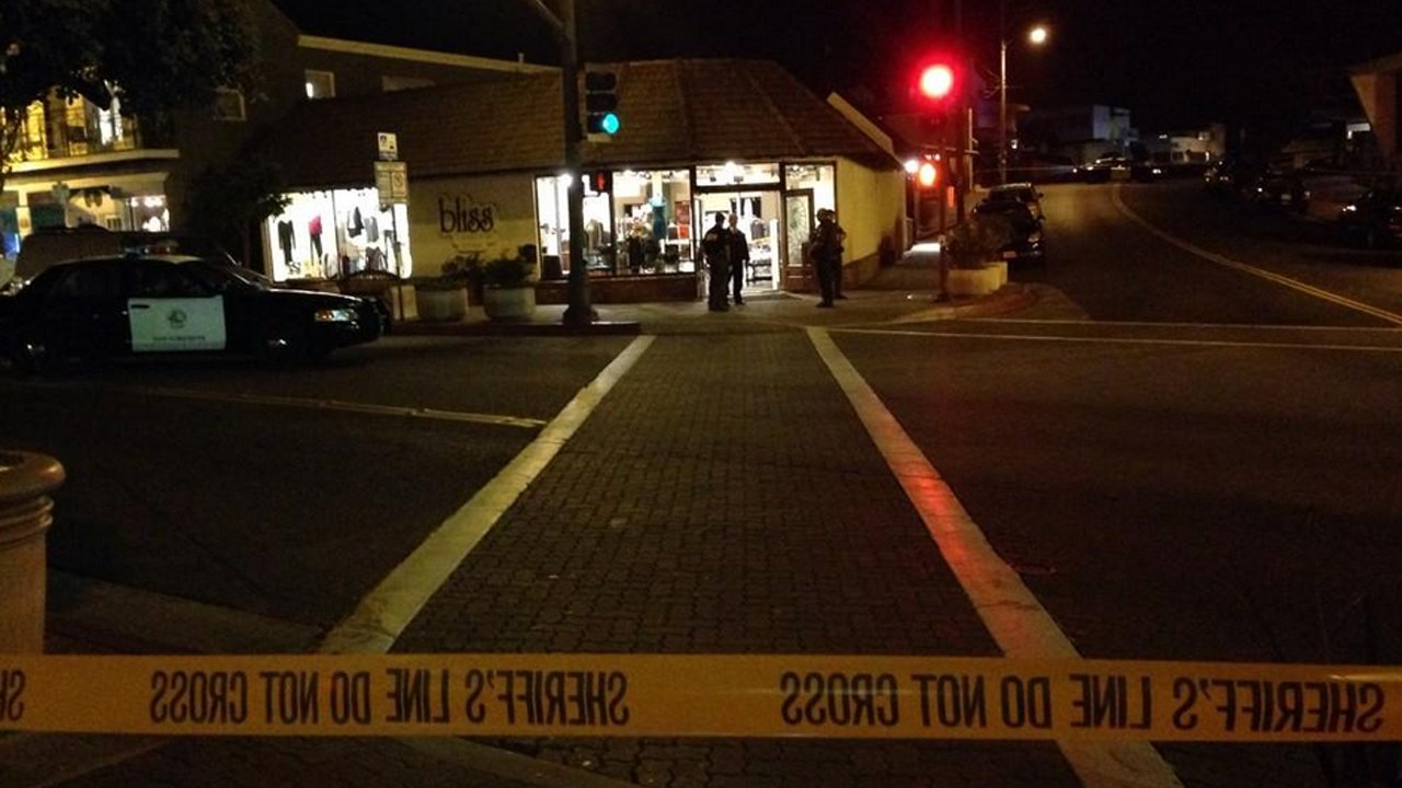 A man and a woman were killed in a shooting at a San Clemente clothing and gift shop on Saturday, Oct. 25, 2014.