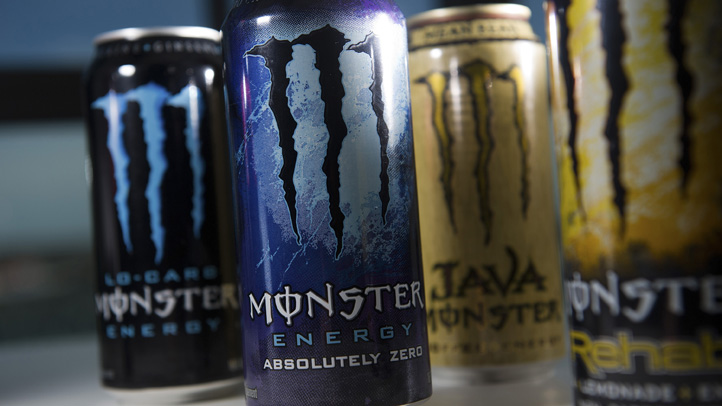 Cans of Monster Beverage Corp. energy drinks have seven times the amount of the caffeine in a 12-ounce cola. They have been cited in five deaths and one non-fatal heart attack.