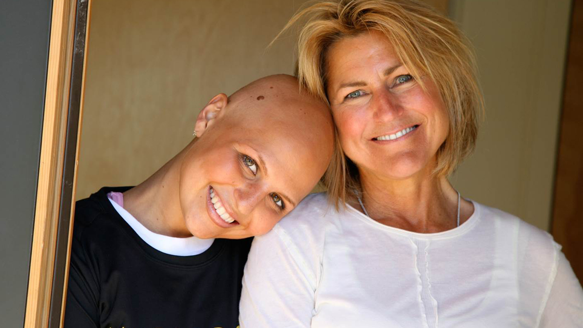 Portrait of Austen Everett and her mother. Everett died of non-Hodgkin's Lymphoma three years ago at the age of 25.