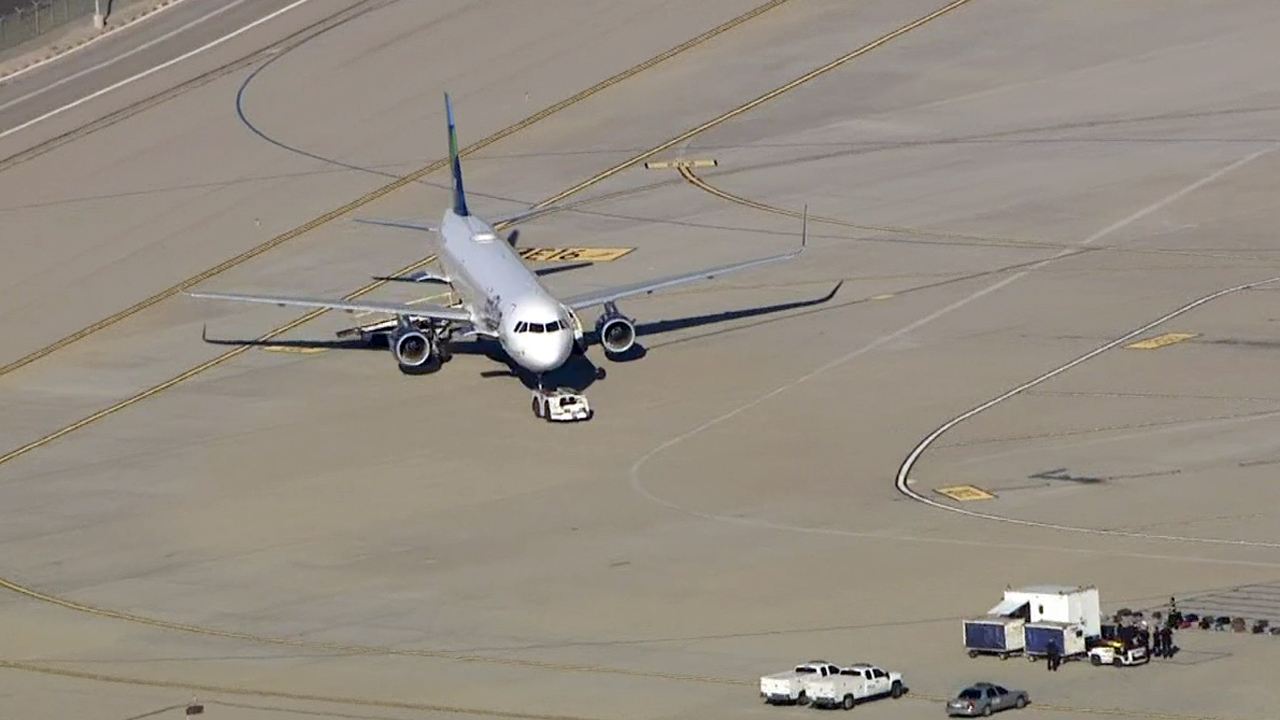 A JetBlue plane was moved to a remote location of Los Angeles International Airport for inspection on Thursday, Nov. 19, 2015 after an authorized person tried to gain access to the aircraft, airport officials say.
