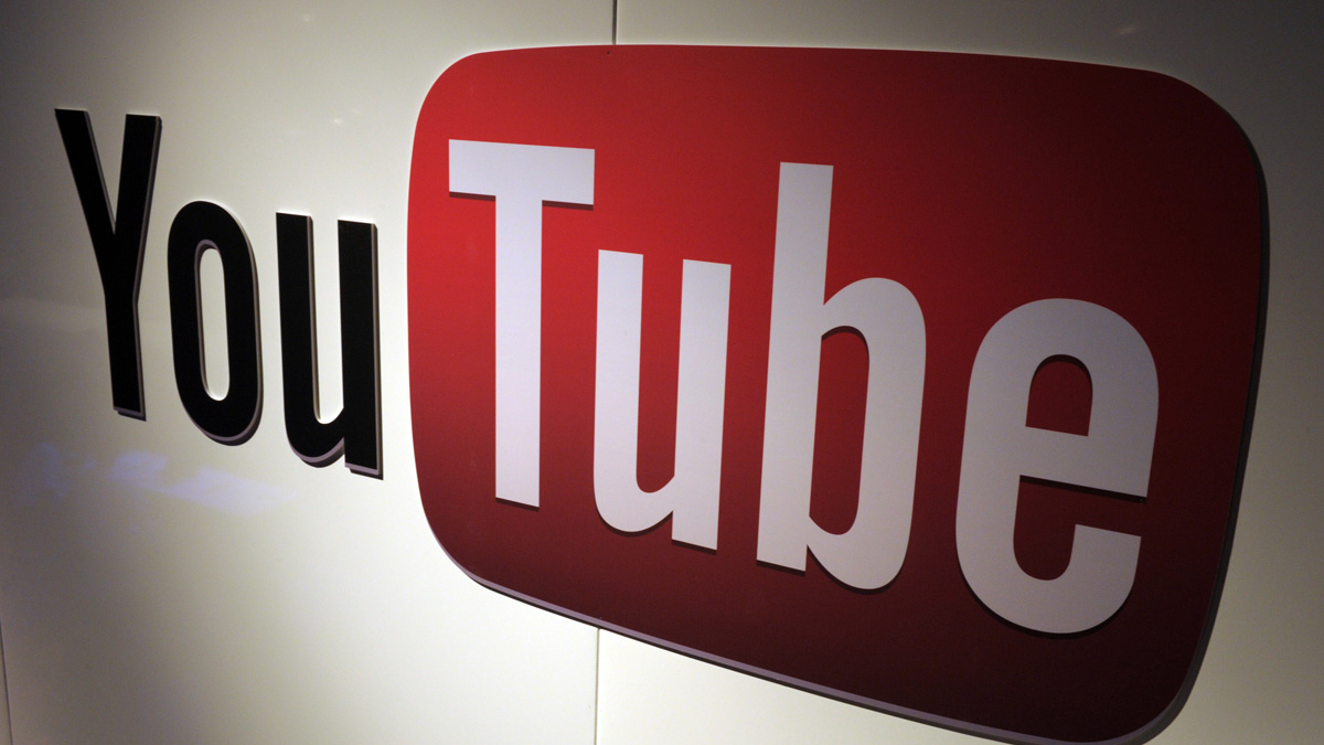A picture shows a You Tube logo.