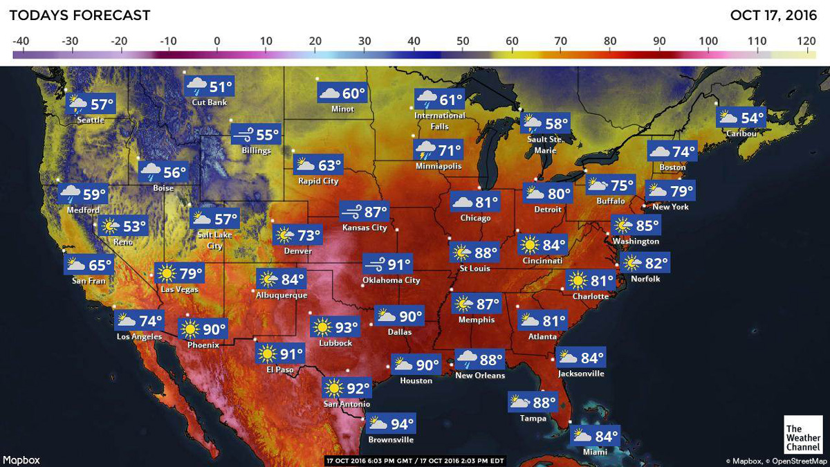 Record-breaking heat is expected to sweep the eastern half of the United States through Wednesday, with temperatures reaching the mid-80's in the Northeast, and 90s in the South.