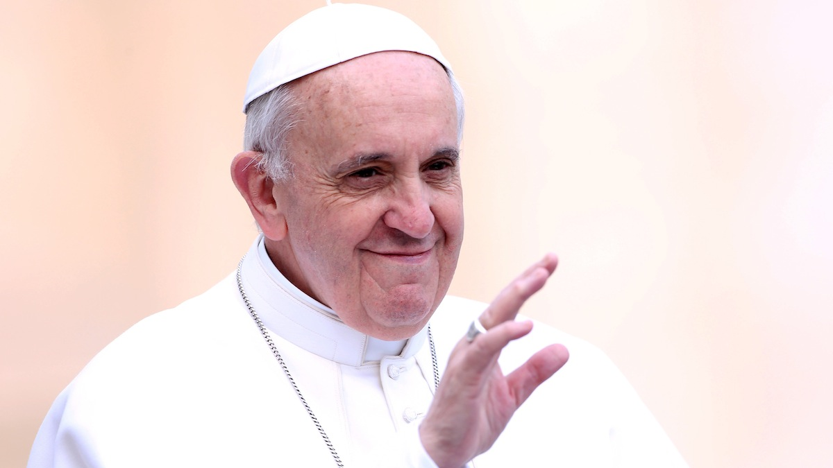 Pope Francis told parishioners about his previous occupation during a visit to a church near Rome.