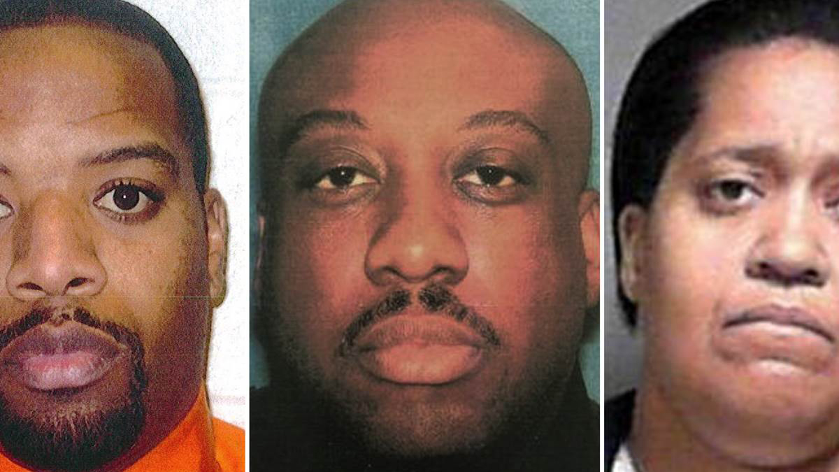 Former East Cleveland police officers, from left: Antonio Malone, Eric Jones and Torris Moore