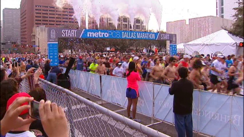 Runners Crossed Margaret Hunt Hill Bridge for the first time in race history