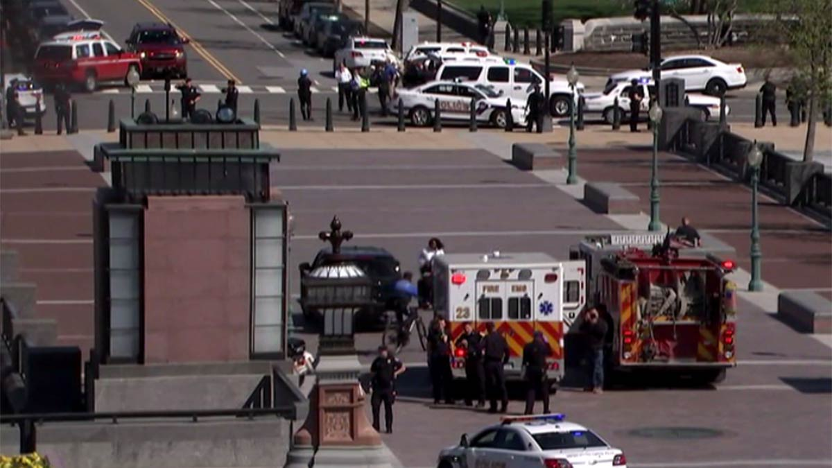 The U.S. Capitol Police Department said Larry R. Dawson, 66, of Antioch, Tennessee, has been charged with assault with a deadly weapon and assault on a police officer while armed.