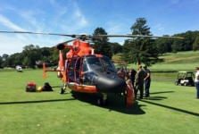 Coast Guard Chopper Lands on Staten Island Golf Course