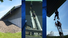 Worker Slips, Dangles From Quinnipiac Sports Complex in Hamd...