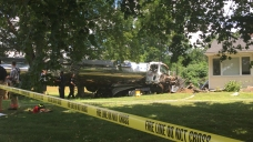 Tanker Truck Crashes into Home in Suffield
