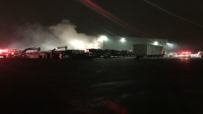 Crews Battle Fire at New Haven Recycling Facility