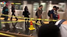 Rain Pours in Subways as Flash Floods Hit