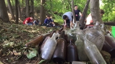 Nearly 100 Yale Students Clean Up New Haven Trash