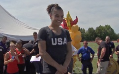 NJ Town Gives Hero's Welcome to Gymnast Laurie Hernandez