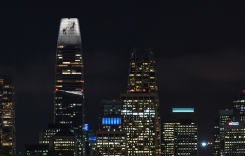 Salesforce Tower Set for Grand Opening With Light Display