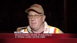 11 Displaced By Fire in Killingly