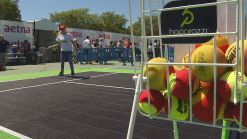 Local Latino Youth Learn About Tennis from Olympic Gold Medalist Gigi Fernandez