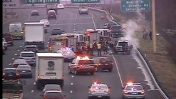 Car  on Fire on I-91 N in Hartford
