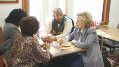 Clinton Holds Roundtable On Gun Violence