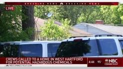 Hazmat Crews at West Hartford Home