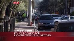Police Search for Escaped Prisoner in Hartford