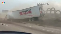 Truck Driver Survives Crash After Brakes Fail