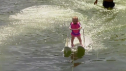 6-Month-Old Baby Water Skis in Florida