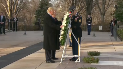 Trump Visits Arlington for Wreath-Laying Ceremony