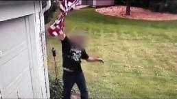 Erin Stewart's American Flag Taken From Home