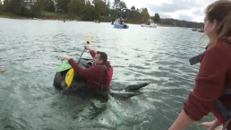 Giant Pumpkin Boat Race Draws Hundreds in Maine