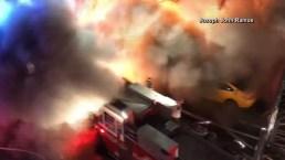 NYC Fire Backdraft Blast Caught on Camera